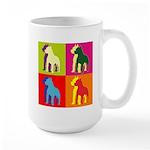 Pitbull Terrier Silhouette Pop Art Large Mug