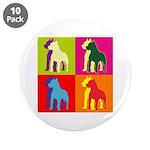 Pitbull Terrier Silhouette Pop Art 3.5
