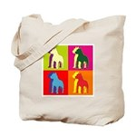 Pitbull Terrier Silhouette Pop Art Tote Bag