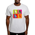 Pitbull Terrier Silhouette Pop Art Light T-Shirt