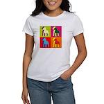 Pitbull Terrier Silhouette Pop Art Women's T-Shirt