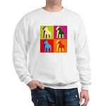Pitbull Terrier Silhouette Pop Art Sweatshirt
