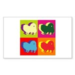 Pomeranian Silhouette Pop Art Sticker (Rectangle 5