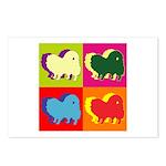 Pomeranian Silhouette Pop Art Postcards (Package o