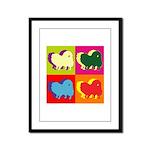 Pomeranian Silhouette Pop Art Framed Panel Print