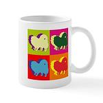 Pomeranian Silhouette Pop Art Mug