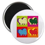 Pomeranian Silhouette Pop Art Magnet