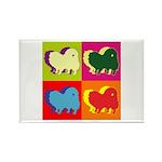 Pomeranian Silhouette Pop Art Rectangle Magnet (10