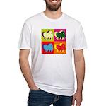 Pomeranian Silhouette Pop Art Fitted T-Shirt