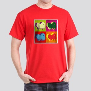 Pomeranian Silhouette Pop Art Dark T-Shirt