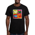 Pomeranian Silhouette Pop Art Men's Fitted T-Shirt