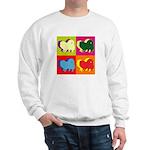 Pomeranian Silhouette Pop Art Sweatshirt