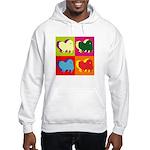 Pomeranian Silhouette Pop Art Hooded Sweatshirt