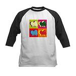 Pomeranian Silhouette Pop Art Kids Baseball Jersey