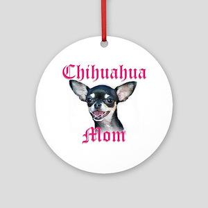 Chihuahua Mom Ornament (Round)