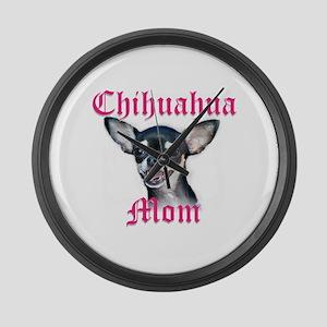 Chihuahua Mom Large Wall Clock