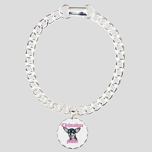 Chihuahua Mom Charm Bracelet, One Charm