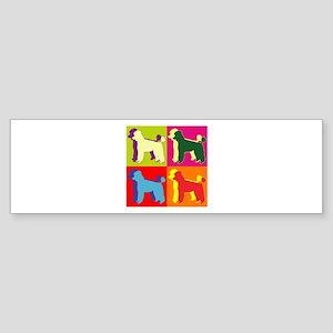 Poodle Silhouette Pop Art Sticker (Bumper)