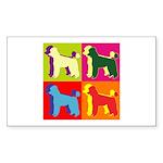 Poodle Silhouette Pop Art Sticker (Rectangle 10 pk