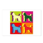 Poodle Silhouette Pop Art Postcards (Package of 8)