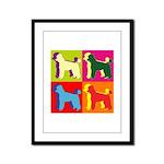 Poodle Silhouette Pop Art Framed Panel Print