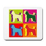 Poodle Silhouette Pop Art Mousepad