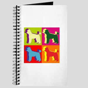 Poodle Silhouette Pop Art Journal