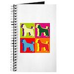 Poodle Silhouette Pop Art Journal
