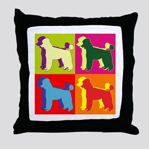 Poodle Silhouette Pop Art Throw Pillow