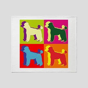 Poodle Silhouette Pop Art Throw Blanket