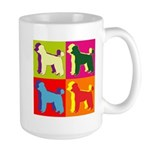 Poodle Silhouette Pop Art Large Mug