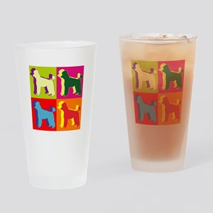 Poodle Silhouette Pop Art Drinking Glass