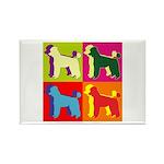 Poodle Silhouette Pop Art Rectangle Magnet