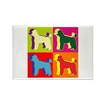 Poodle Silhouette Pop Art Rectangle Magnet (10 pac
