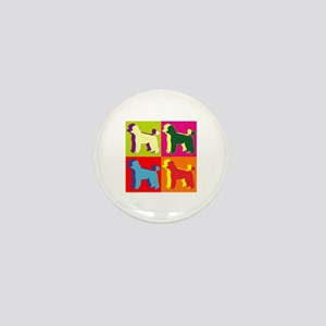 Poodle Silhouette Pop Art Mini Button