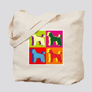 Poodle Silhouette Pop Art Tote Bag