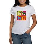 Poodle Silhouette Pop Art Women's T-Shirt