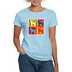 Poodle Silhouette Pop Art Women's Light T-Shirt