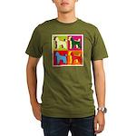 Poodle Silhouette Pop Art Organic Men's T-Shirt (d
