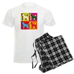 Poodle Silhouette Pop Art Men's Light Pajamas