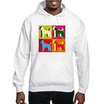 Poodle Silhouette Pop Art Hooded Sweatshirt