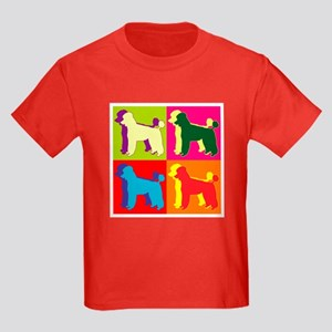 Poodle Silhouette Pop Art Kids Dark T-Shirt