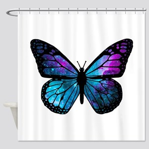 Galactic Butterfly Shower Curtain