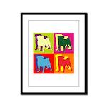 Pug Silhouette Pop Art Framed Panel Print