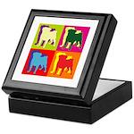 Pug Silhouette Pop Art Keepsake Box