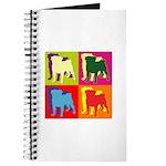 Pug Silhouette Pop Art Journal