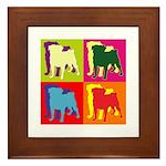 Pug Silhouette Pop Art Framed Tile