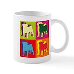 Pug Silhouette Pop Art Mug