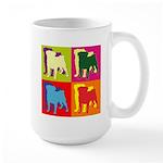 Pug Silhouette Pop Art Large Mug