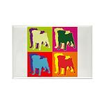 Pug Silhouette Pop Art Rectangle Magnet (100 pack)